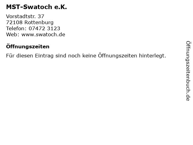 MST-Swatoch e.K. in Rottenburg: Adresse und Öffnungszeiten
