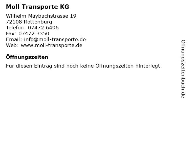 Moll Transporte KG in Rottenburg: Adresse und Öffnungszeiten