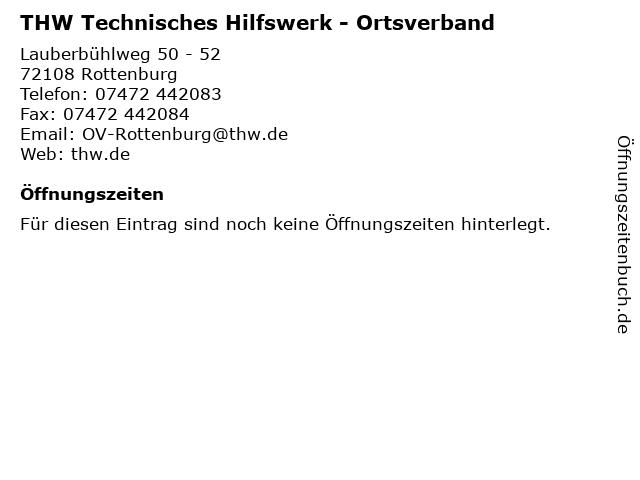 THW Technisches Hilfswerk - Ortsverband in Rottenburg: Adresse und Öffnungszeiten