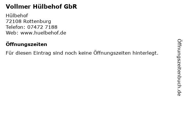 Vollmer Hülbehof GbR in Rottenburg: Adresse und Öffnungszeiten