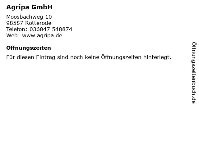 Agripa GmbH in Rotterode: Adresse und Öffnungszeiten