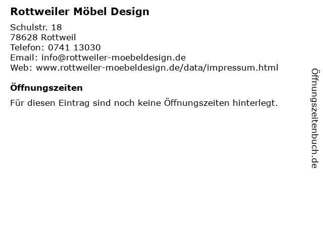 ᐅ Offnungszeiten Rottweiler Mobel Design Schulstr 18 In Rottweil