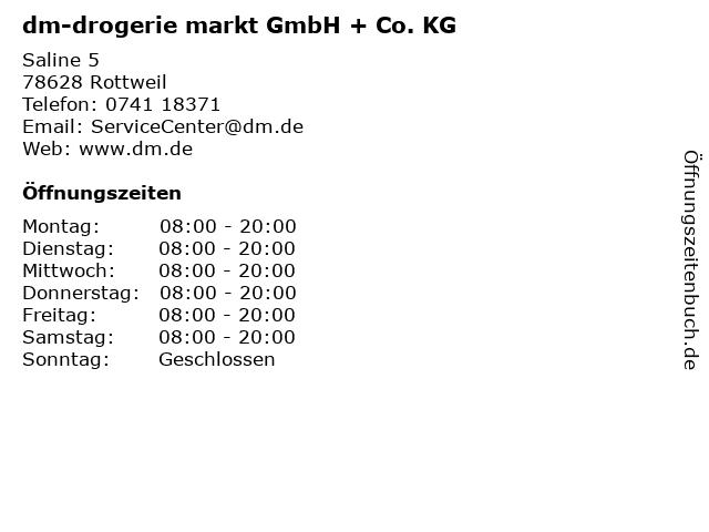 dm-drogerie markt GmbH + Co. KG in Rottweil: Adresse und Öffnungszeiten