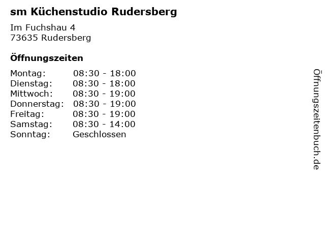 ᐅ Offnungszeiten Sm Kuchenstudio Rudersberg Im Fuchshau 4 In