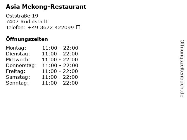 Asia Mekong-Restaurant in Rudolstadt: Adresse und Öffnungszeiten