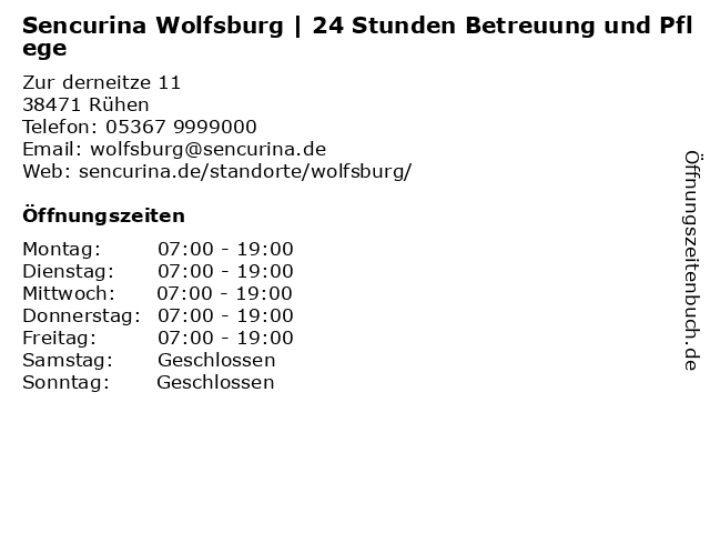 SENCURINA GmbH in Rühen: Adresse und Öffnungszeiten
