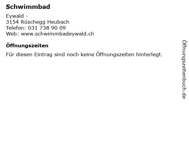 Schwimmbad in Rüschegg Heubach: Adresse und Öffnungszeiten