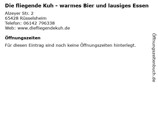 Die fliegende Kuh - warmes Bier und lausiges Essen in Rüsselsheim: Adresse und Öffnungszeiten