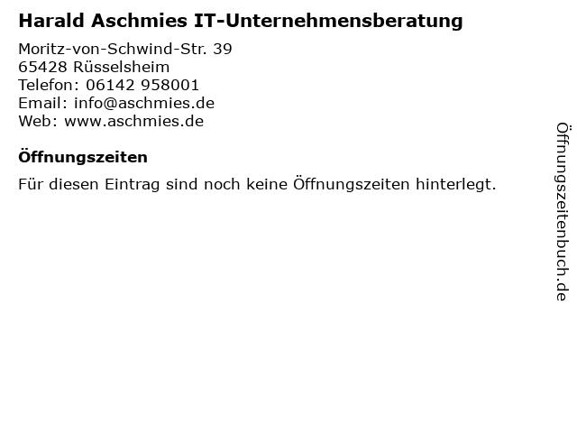 Harald Aschmies IT-Unternehmensberatung in Rüsselsheim: Adresse und Öffnungszeiten