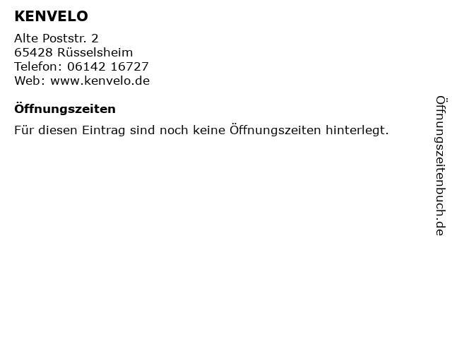 KENVELO in Rüsselsheim: Adresse und Öffnungszeiten