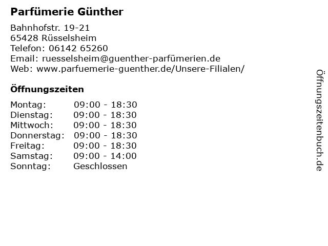 Parfümerie Lochmann GmbH in Rüsselsheim: Adresse und Öffnungszeiten