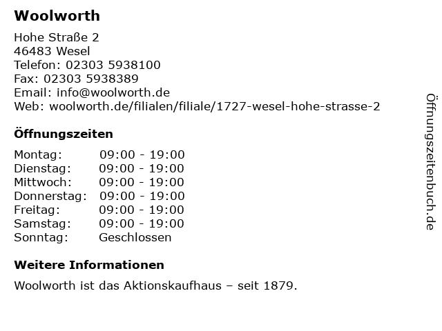 Woolworth GmbH in Rüsselsheim: Adresse und Öffnungszeiten
