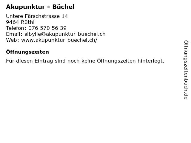 Akupunktur - Büchel in Rüthi: Adresse und Öffnungszeiten