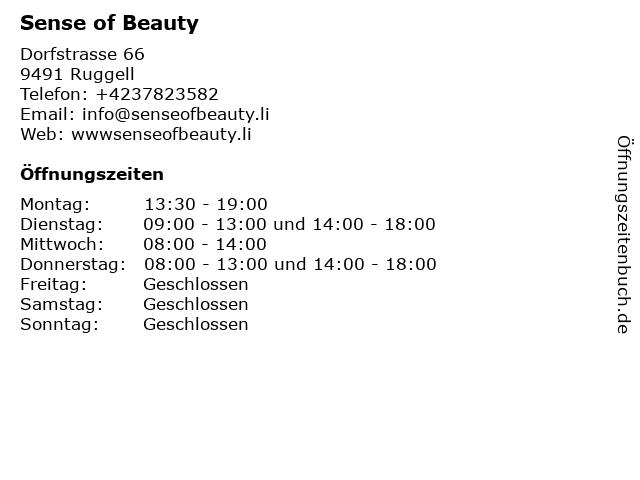 Sense of Beauty in Ruggell: Adresse und Öffnungszeiten