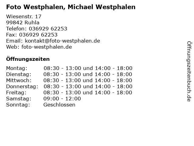 Foto Westphalen, Michael Westphalen in Ruhla: Adresse und Öffnungszeiten