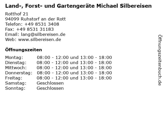Land-, Forst- und Gartengeräte Michael Silbereisen in Ruhstorf an der Rott: Adresse und Öffnungszeiten