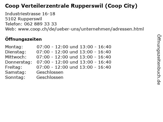 Coop Verteilerzentrale Rupperswil (Coop City) in Rupperswil: Adresse und Öffnungszeiten