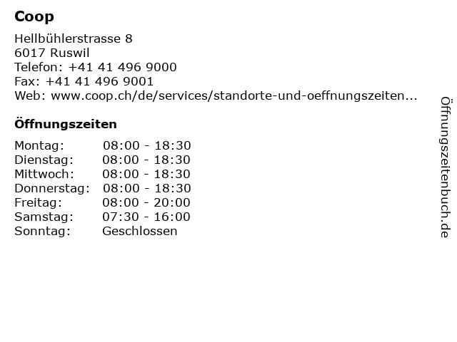 Coop in Ruswil: Adresse und Öffnungszeiten