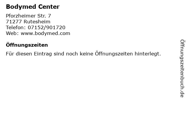 Bodymed Center in Rutesheim: Adresse und Öffnungszeiten