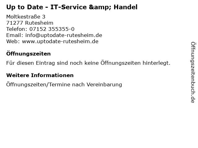 Up to Date - IT-Service & Handel in Rutesheim: Adresse und Öffnungszeiten