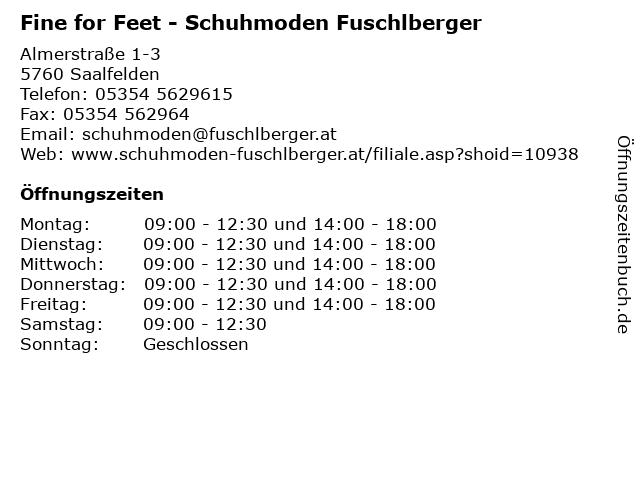 Fine for Feet - Schuhmoden Fuschlberger in Saalfelden: Adresse und Öffnungszeiten