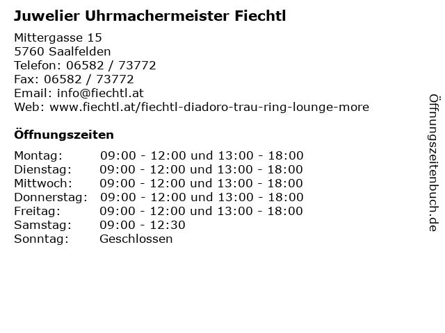 Juwelier Uhrmachermeister Fiechtl in Saalfelden: Adresse und Öffnungszeiten