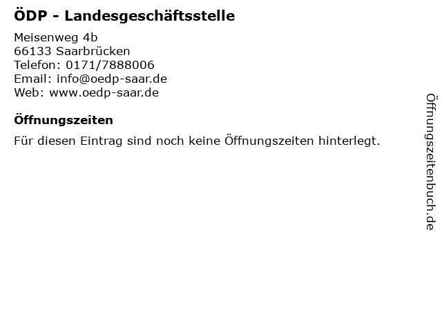 ÖDP - Landesgeschäftsstelle in Saarbrücken: Adresse und Öffnungszeiten