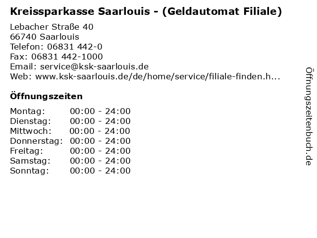 Kreissparkasse Saarlouis - (Geldautomat Filiale) in Saarlouis: Adresse und Öffnungszeiten