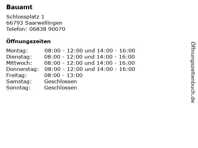 Bauamt in Saarwellingen: Adresse und Öffnungszeiten