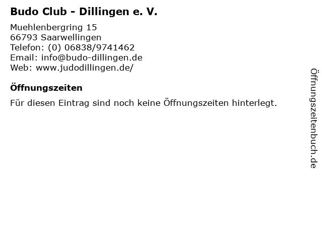 Budo Club - Dillingen e. V. in Saarwellingen: Adresse und Öffnungszeiten