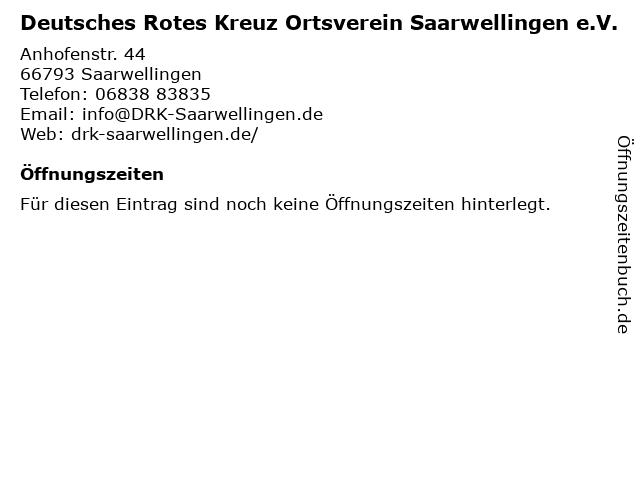 Deutsches Rotes Kreuz Ortsverein Saarwellingen e.V. in Saarwellingen: Adresse und Öffnungszeiten