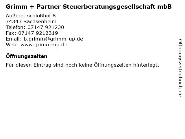 Grimm & Partner Steuerberatungsgesellschaft mbB in Sachsenheim: Adresse und Öffnungszeiten