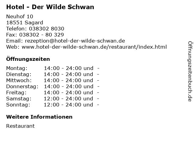 Hotel - Der Wilde Schwan in Sagard: Adresse und Öffnungszeiten