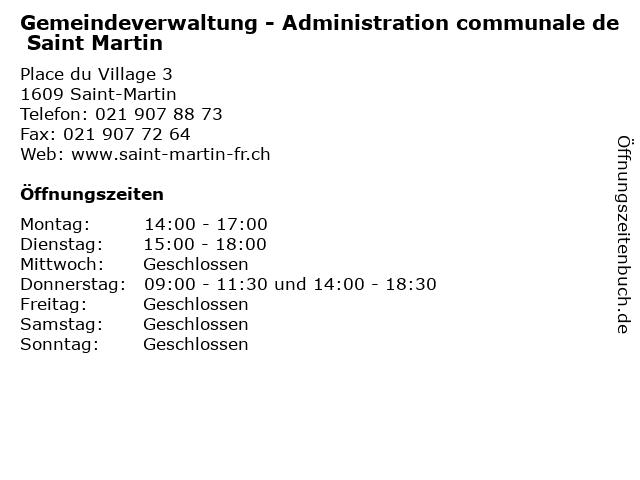 Gemeindeverwaltung - Administration communale de Saint Martin in Saint-Martin: Adresse und Öffnungszeiten