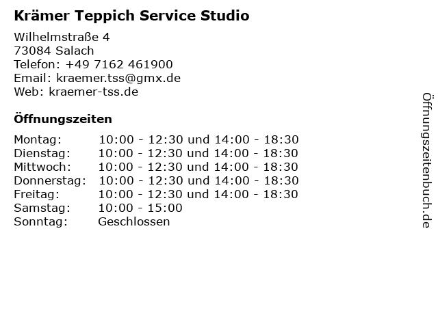 Krämer Teppich Service Studio in Salach: Adresse und Öffnungszeiten