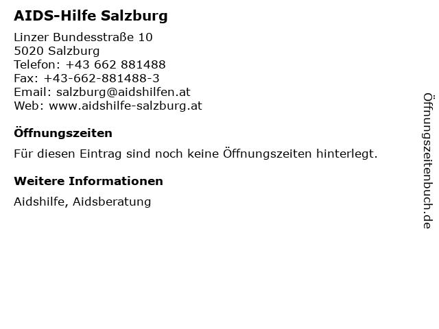 AIDS-Hilfe Salzburg in Salzburg: Adresse und Öffnungszeiten