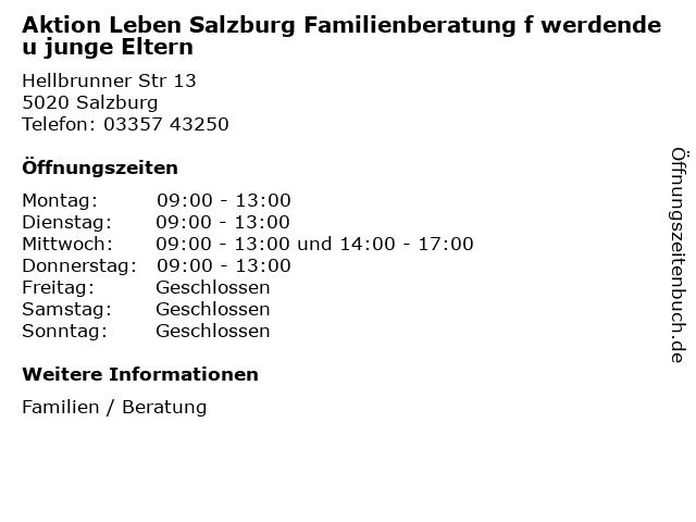 Aktion Leben Salzburg Familienberatung f werdende u junge Eltern in Salzburg: Adresse und Öffnungszeiten