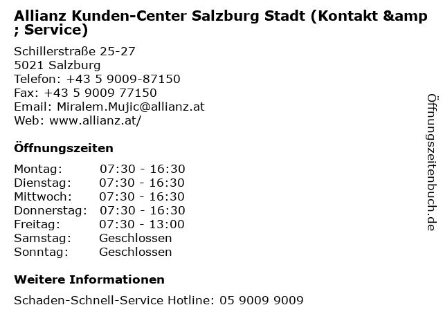 Allianz Kunden-Center Salzburg Stadt (Kontakt & Service) in Salzburg: Adresse und Öffnungszeiten