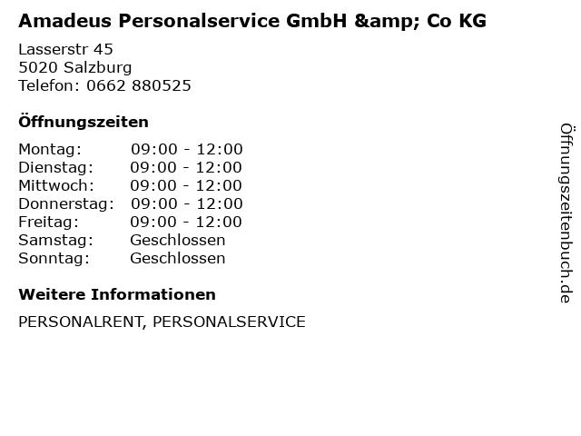 Amadeus Personalservice GmbH & Co KG in Salzburg: Adresse und Öffnungszeiten