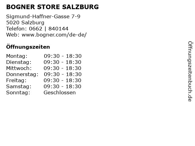 BOGNER STORE SALZBURG in Salzburg: Adresse und Öffnungszeiten