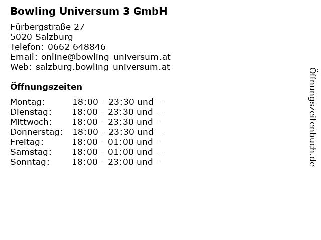 Bowling Universum in Salzburg: Adresse und Öffnungszeiten