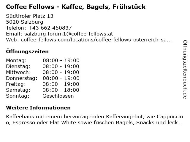 Coffee Fellows GmbH in Salzburg: Adresse und Öffnungszeiten