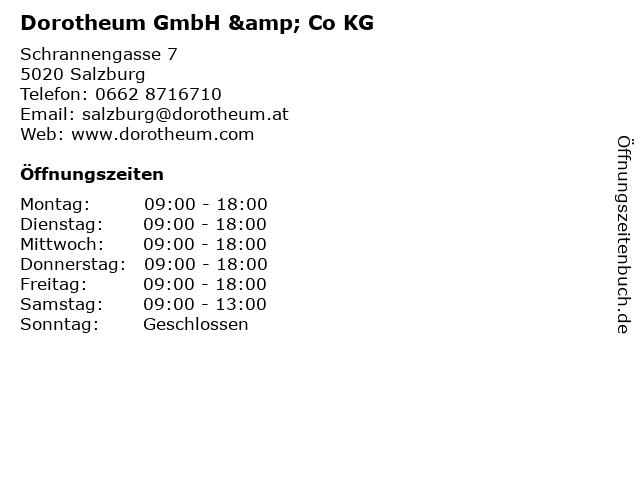 Dorotheum GmbH & Co KG in Salzburg: Adresse und Öffnungszeiten