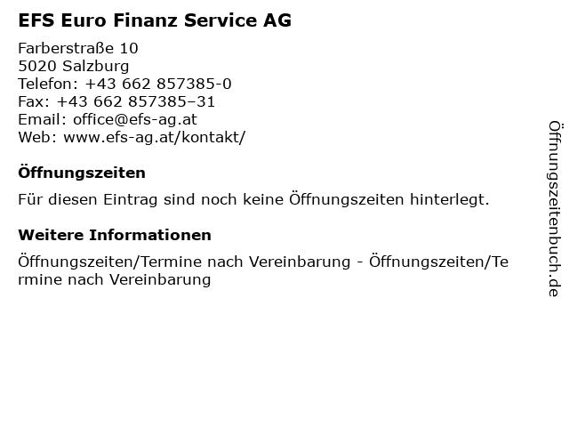 EFS Euro Finanz Service AG in Salzburg: Adresse und Öffnungszeiten