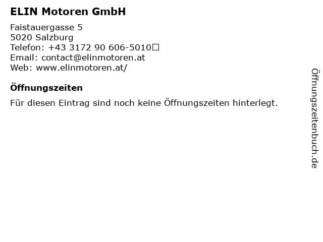 ELIN Motoren GmbH in Salzburg: Adresse und Öffnungszeiten