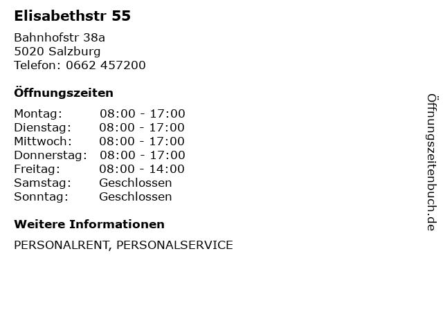 Elisabethstr 55 in Salzburg: Adresse und Öffnungszeiten
