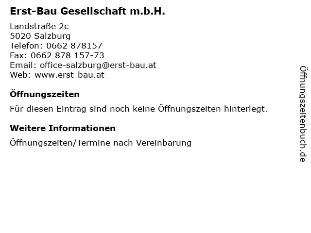 Erst-Bau Gesellschaft m.b.H. in Salzburg: Adresse und Öffnungszeiten