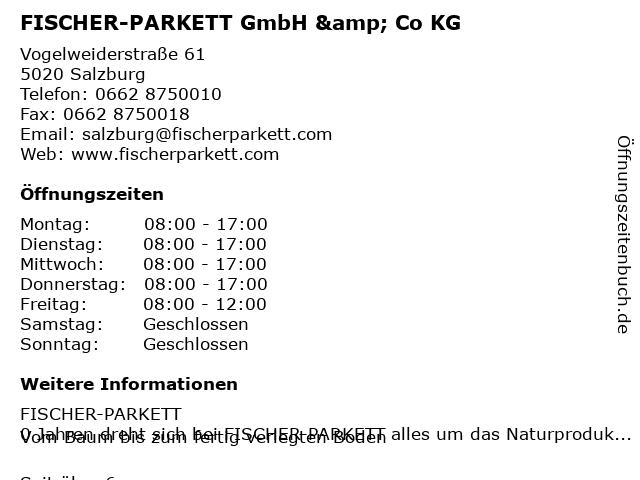 FISCHER-PARKETT GmbH & Co KG in Salzburg: Adresse und Öffnungszeiten