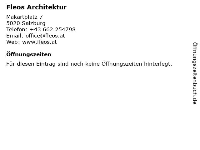 Fleos Architektur in Salzburg: Adresse und Öffnungszeiten
