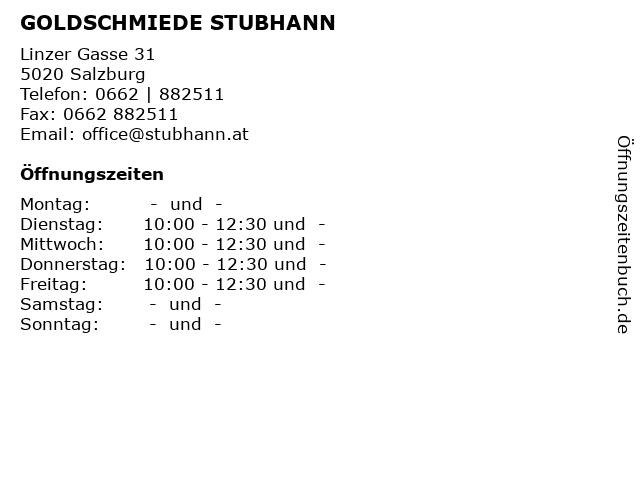 GOLDSCHMIEDE STUBHANN in Salzburg: Adresse und Öffnungszeiten